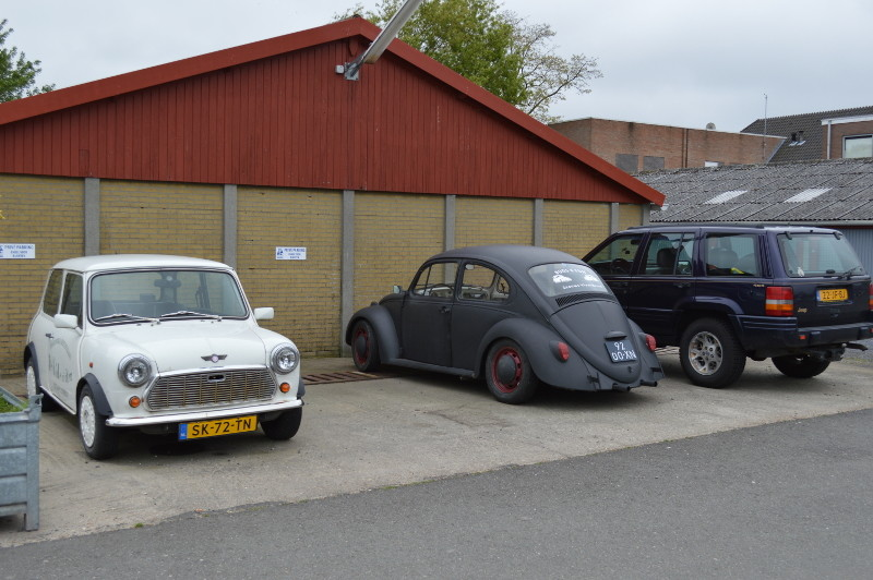 old cars in Sluis - Nederland.