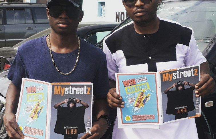 Lil kesh officially recieved his copy of Mystreetz magazine