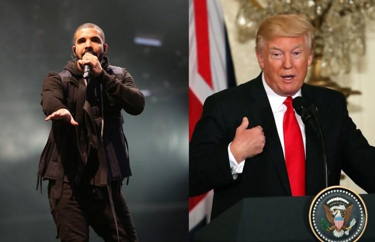 "Watch Drake Says Donald Trump a ""F—–g Idiot"" at Brooklyn Show"