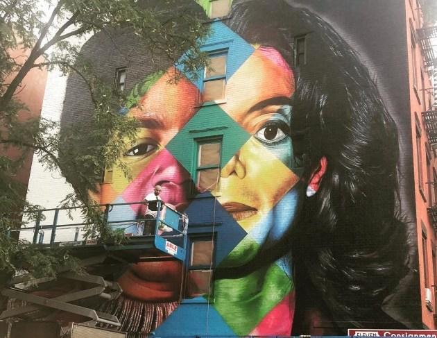 Michael Jackson Mural Appears In New York City