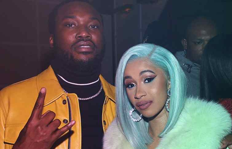 Cardi B And Meek Mill Seems to be Recording In The Studio