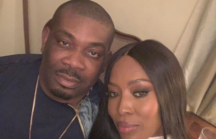 Naomi Campbell and Don Jazzy hung out in Lagos