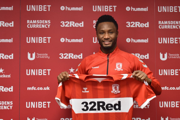 Mikel Obi joins Club Middlesbrough