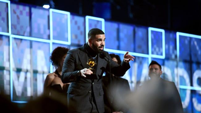 Drake Wins 'Best Rap Song' and Encourage Talents To Keep Grinding
