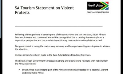 South Africa Tourism Releases Statement To condemn Violence Against Foreign Nationals