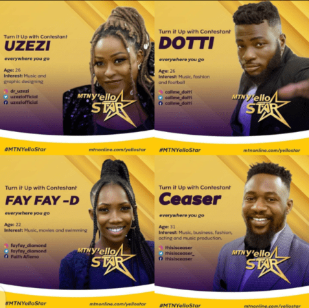 MTN Y'ello Star – Meet The Top 14 Contestants