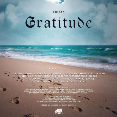 Timaya's Album 'Gratitude' – The Track-list
