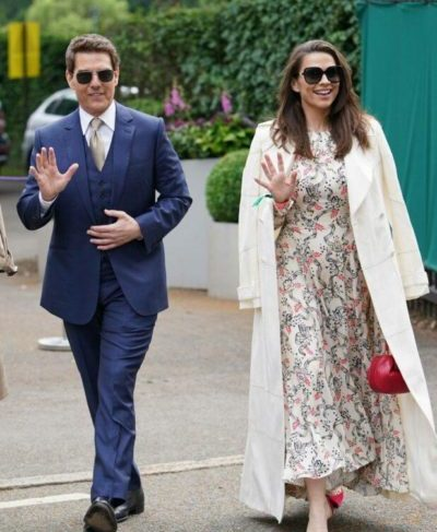 Tom Cruise and Girlfriend Hayley Atwell At Wimbledon