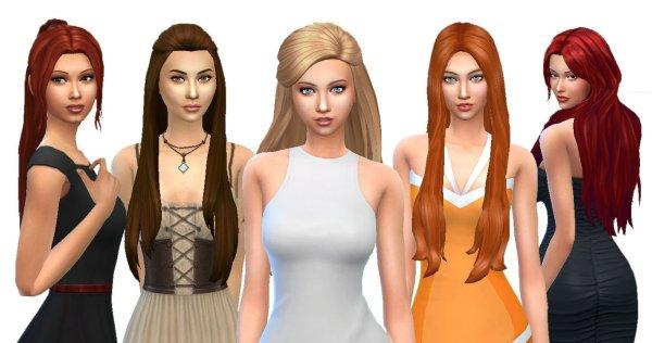 Female Long Hair Pack 4