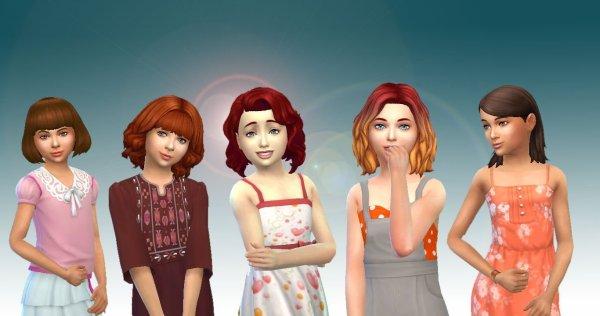 Girls Medium Hair Pack 3