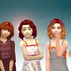 Girls Medium Hair Pack 3