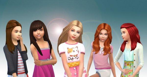 Girls Long Hair Pack 7