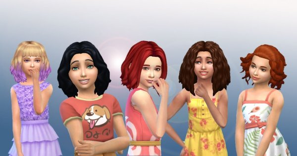 Girls Medium Hair Pack 4