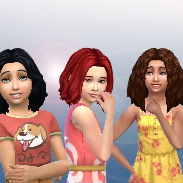 Girls Medium Hair Pack 4