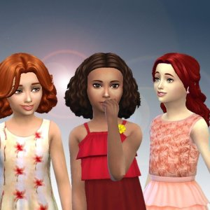 Girls Medium Hair Pack 6