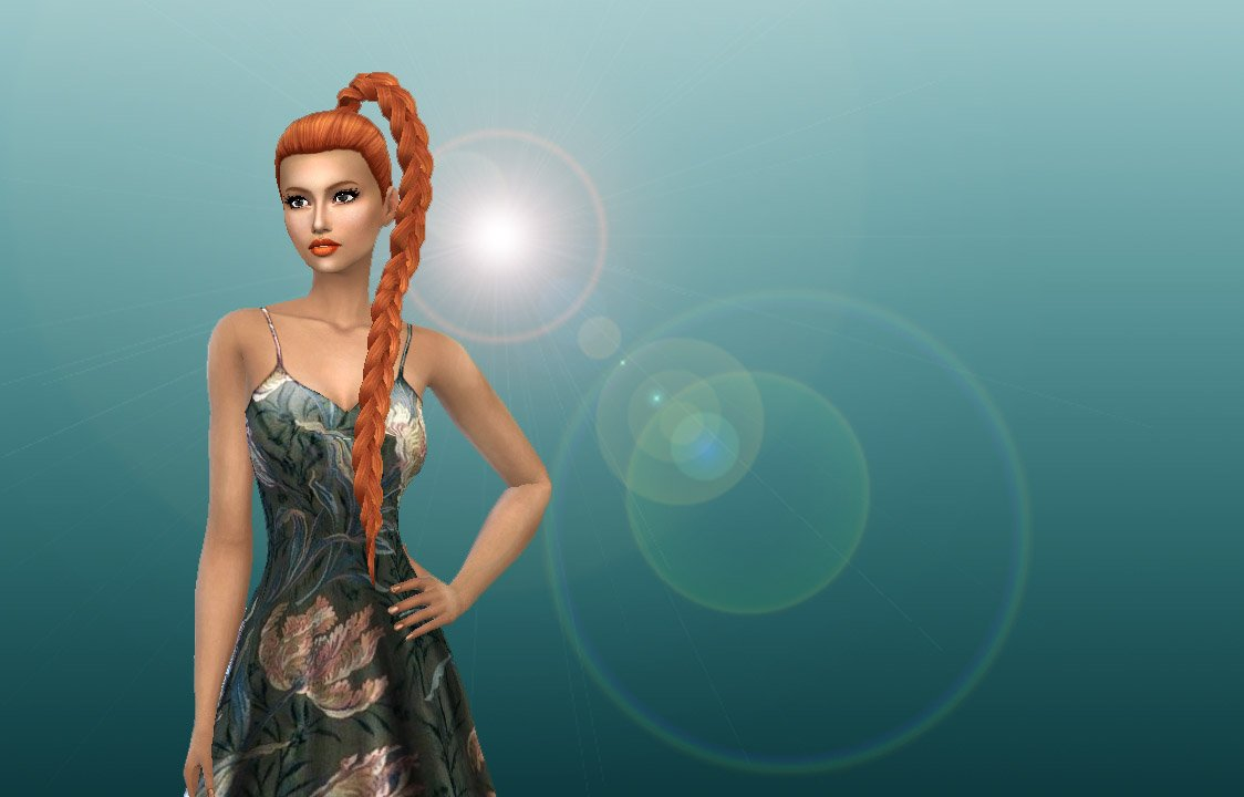 How to add a braid to a hair on the Sims 4