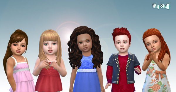 Toddlers Hair Pack 14