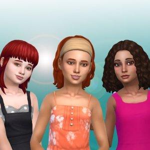 Girls Medium Hair Pack 9