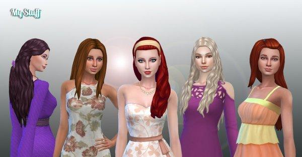 Female Long Hair Pack 16
