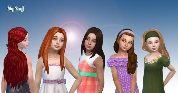 Girls Long Hair Pack 15