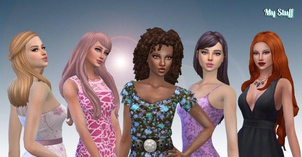 Female Long Hair Pack 18