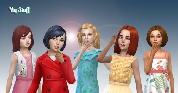 Girls Medium Hair Pack 11