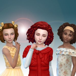 Girls Medium Hair Pack 12