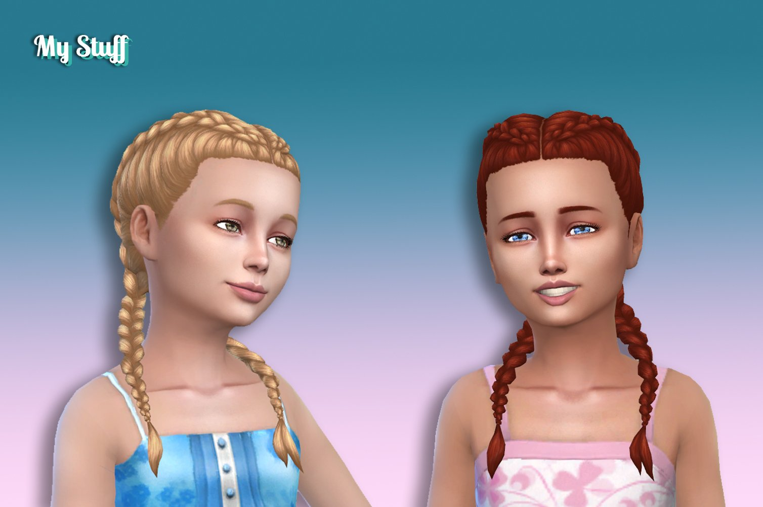 Dutch Double Braids for Girls