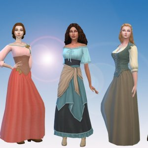Female Historical Clothes Pack 4