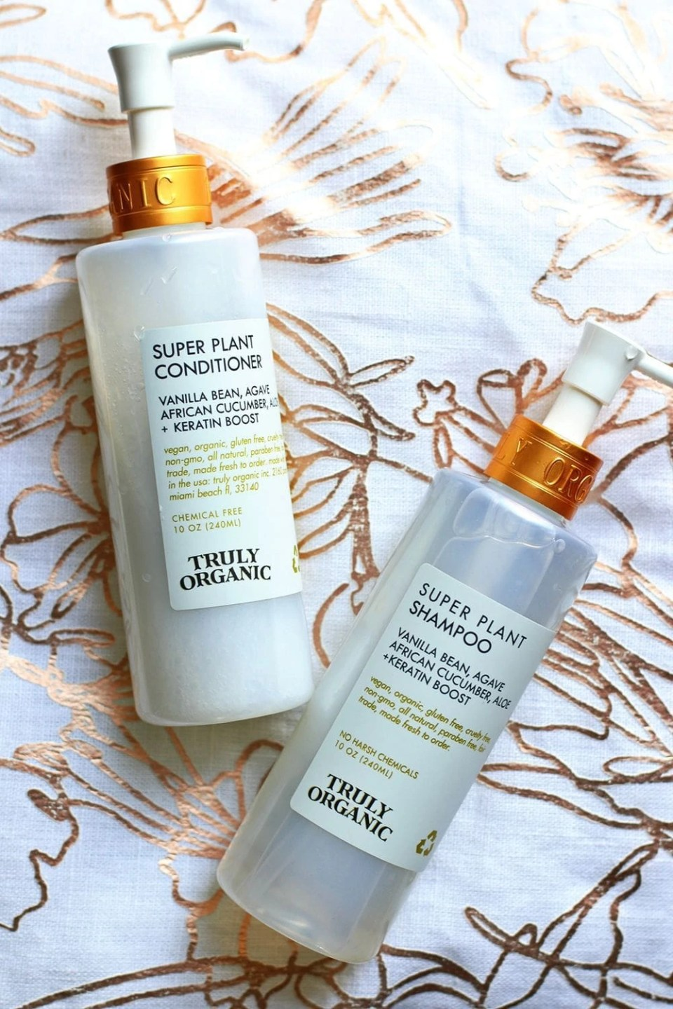 Truly Organic Plant Shampoo and Conditioner