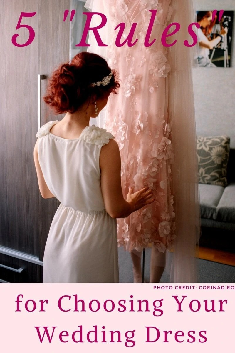 "5 ""Rules"" for Choosing Your Wedding Dress"