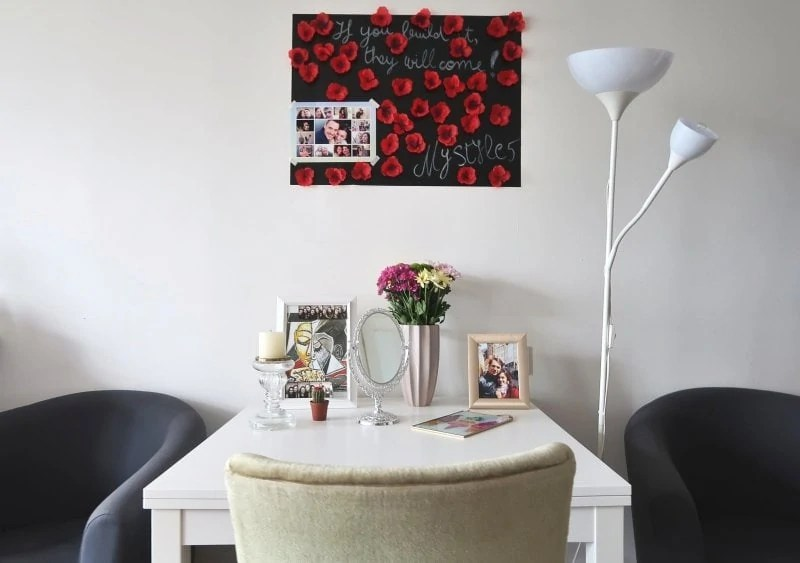 stylish work from home space