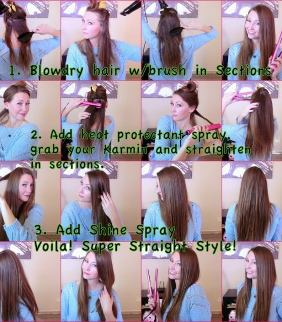 hairstyle: how to get super straight hair
