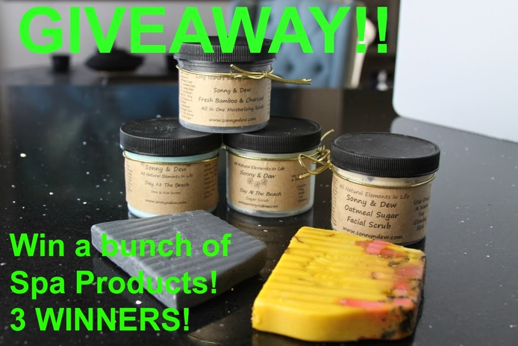 win spa and skin care products from sonny & Dew and MyStylespot