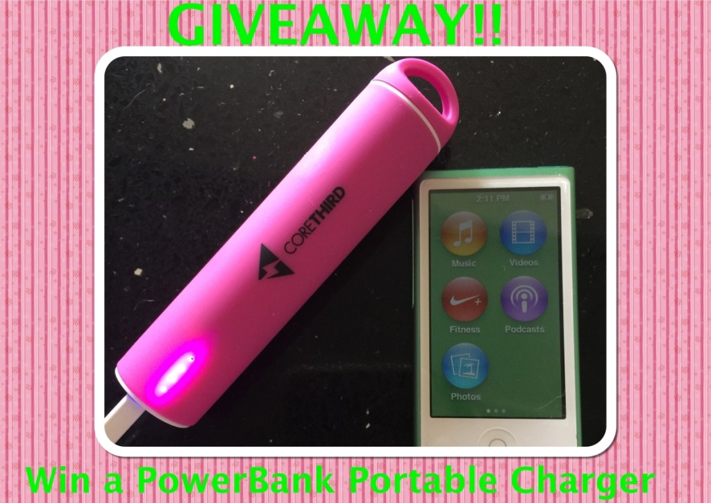 Win a core third express power bank portable battery charger for your phone!