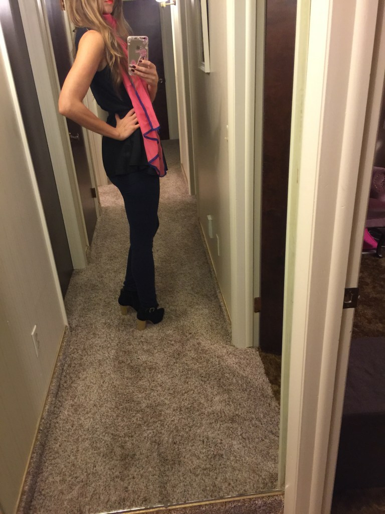 lola cheng pink scarf