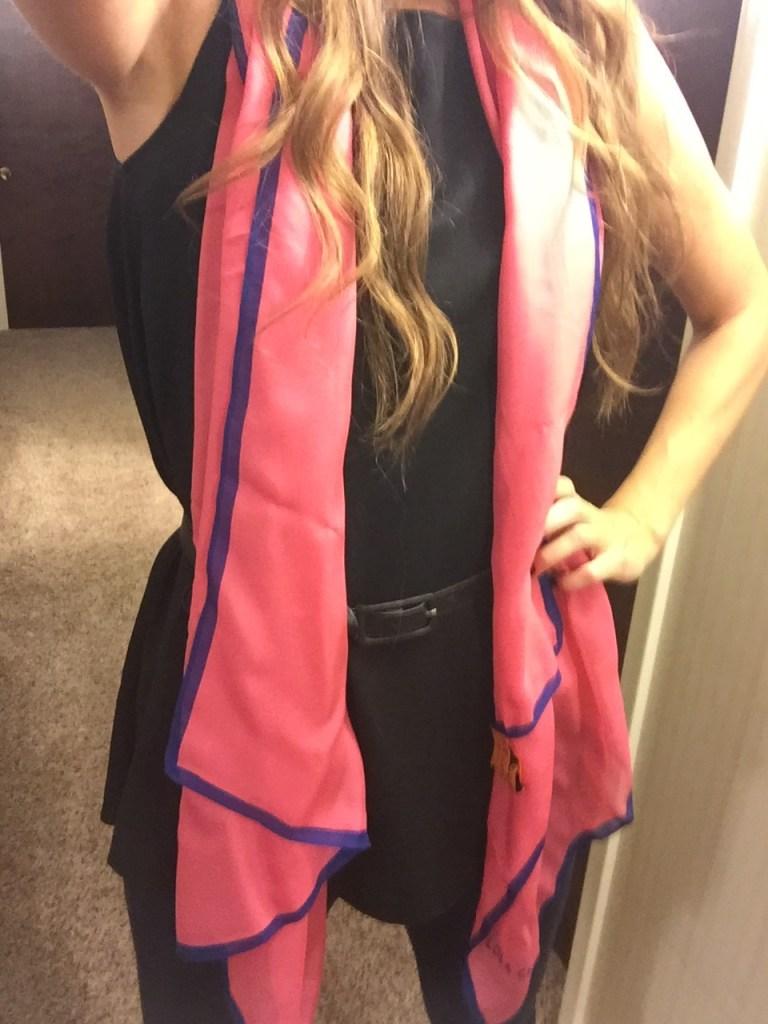 pink silk lola cheng scarf