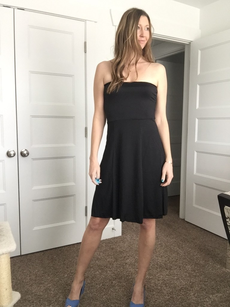 black swimsuit cover up as night out dress