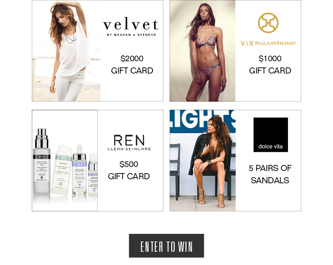 win a $4000 summer fashion shopping spree