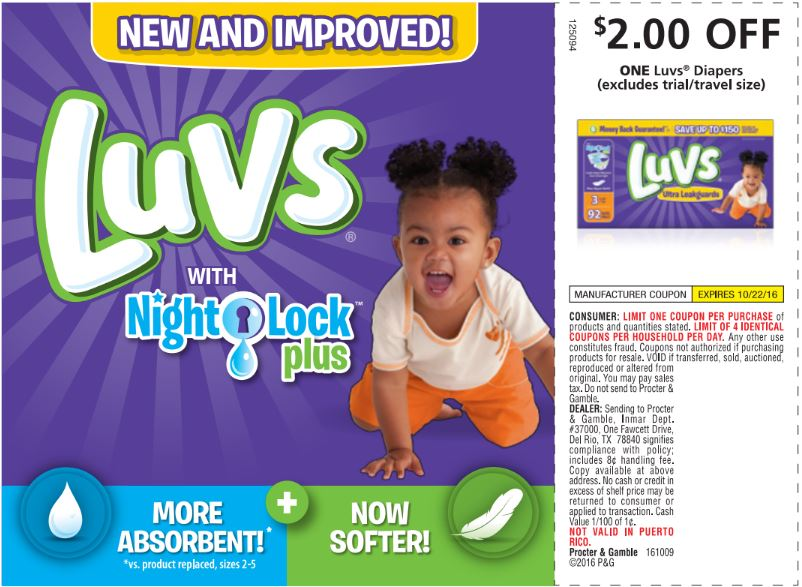 luvs -save $2 on diapers!