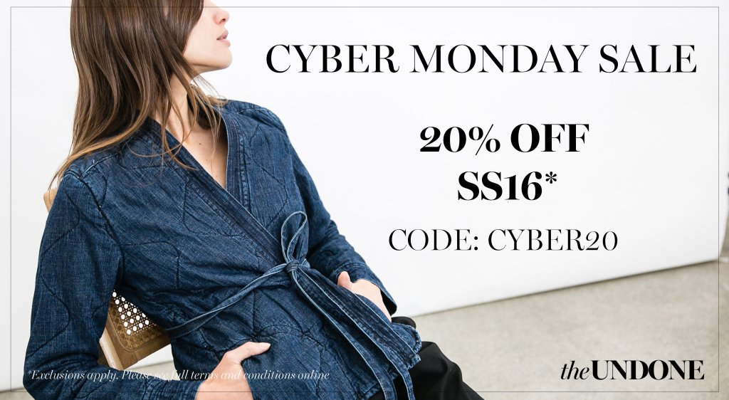 the undone block friday and cyber monday deals