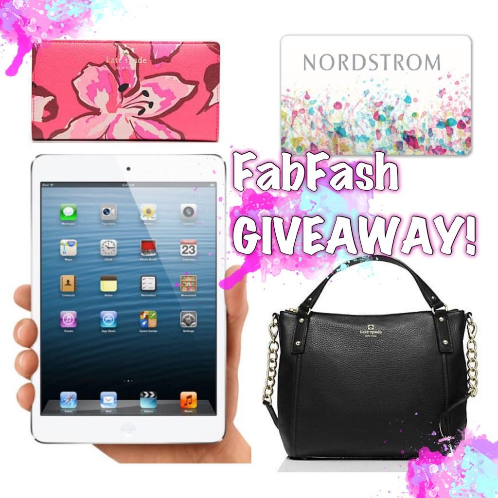 win iPad, kate spade handbag and nordstroms gift card