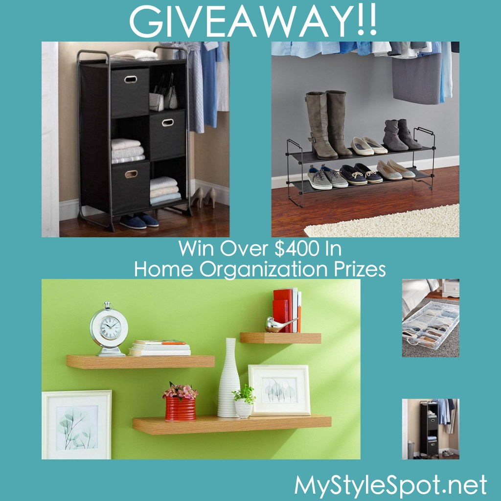 Win over $400 in home organization prizes in the #tidylivinggiveaway