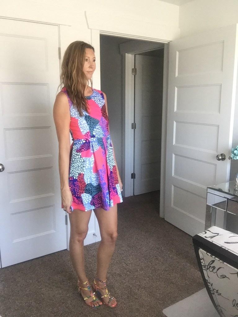 Graphic Print Tank Mini Dress
