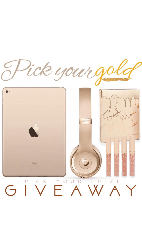 IG giveaway - win Gold iPad, Beats by dre, and makeup