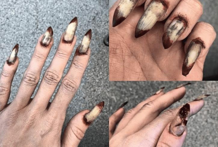 Fun Halloween Creepy Diy Stiletto Nail Art Tutorial Mystylespot