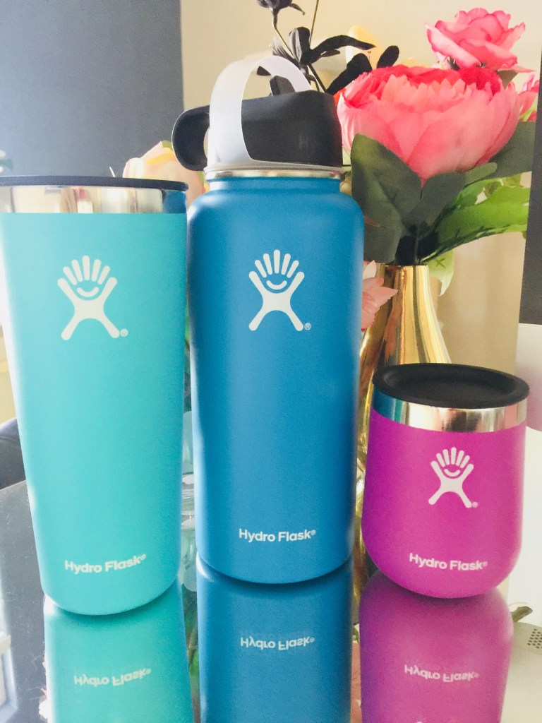 hydroflask tumbler and water bottle