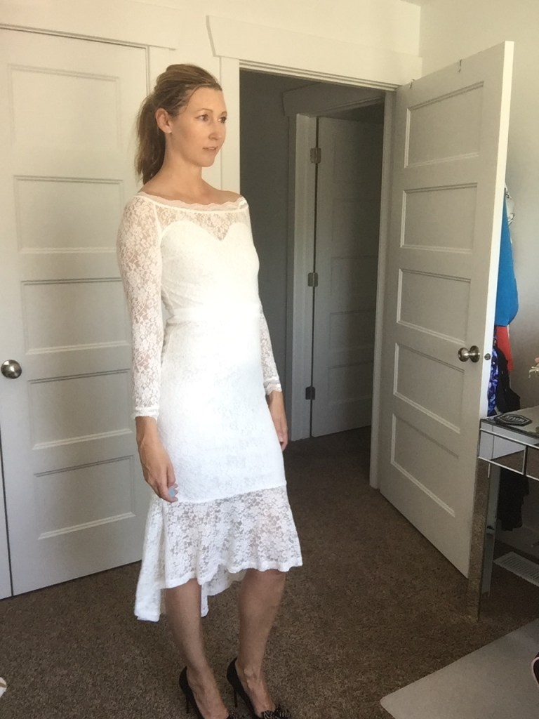 Chic White Lace Ruffled Off the Shoulder Dress