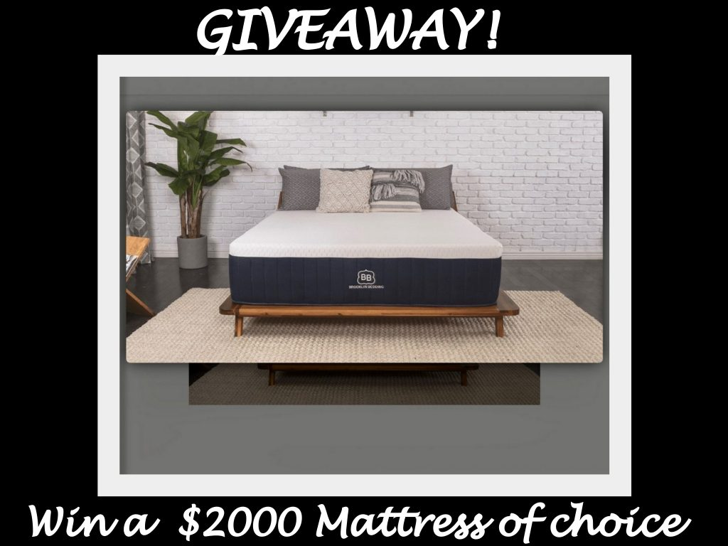 GIVEAWAY: Win a $2000 Dreamy Bed from Brooklyn Bedding