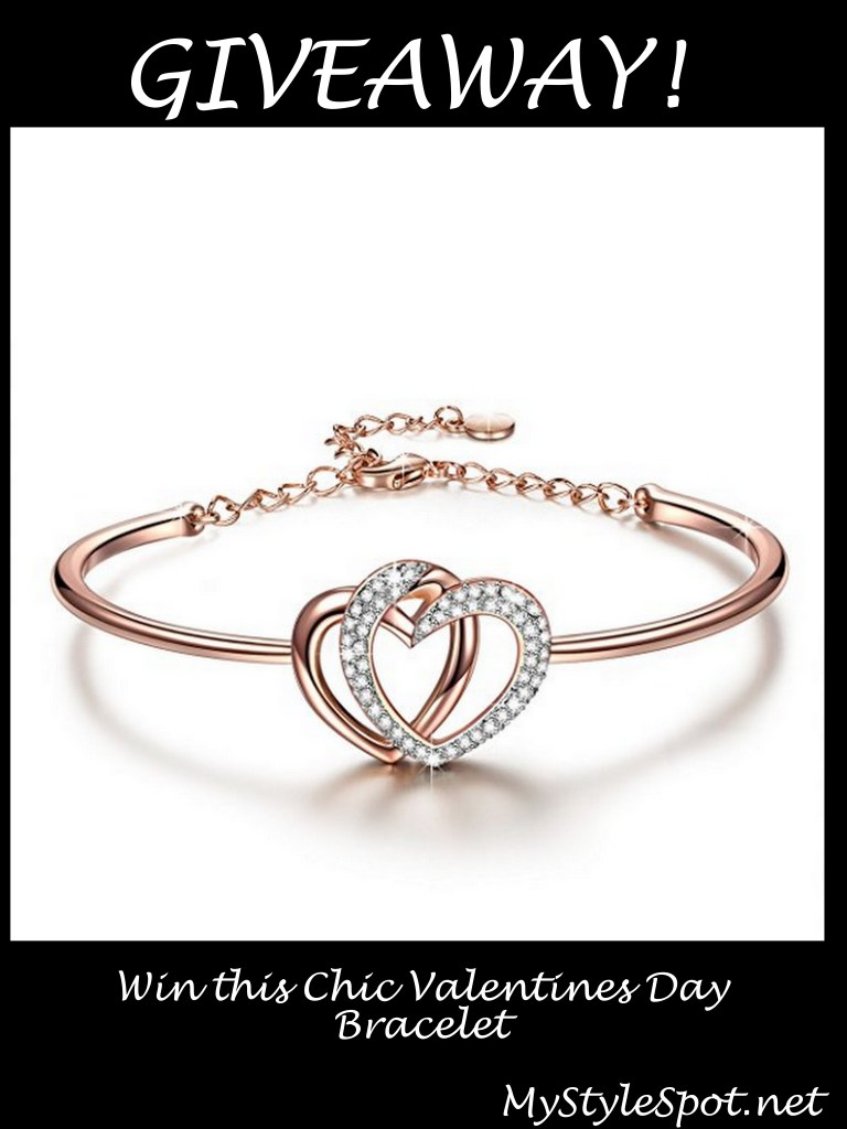 GIVEAWAY: Win a Chic Heart Valentine's Day Bracelet